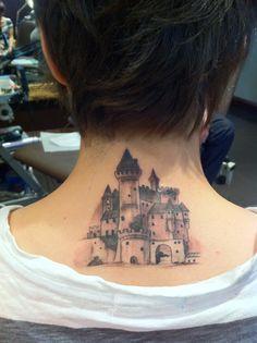 castle tattoo by Ian Flynn