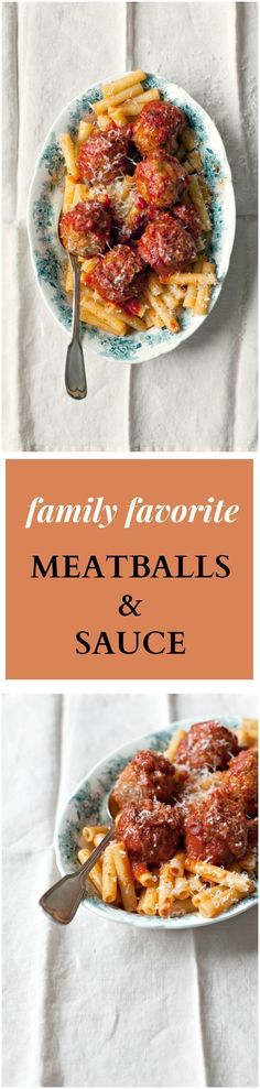 The Best Meatballs and Sauce Recipe! These meatballs are as tender as can be. Soft and seasoned with oregano and mint - the secret ingredient in my family's decades-old recipe.