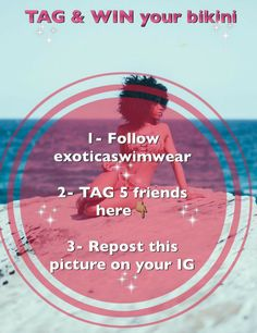 TAG & WIN is back GirlsHere are the simple steps to follow if you want to win your bikini for this summer. #exoticagirl#exoticaswimwear#tagandwin#bikinigiveaway#africanswimwear#africanbikini#tag