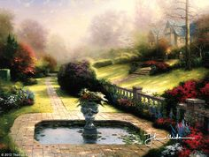 Gardens Beyond Autumn Gate - Classic by Thomas Kinkade