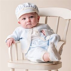 Baby Boy 3-Piece Set - Jack Christening/Baptism Collection - Fancy Gowns & Suits
