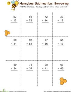 math worksheet : printable math and measurements worksheets  worksheets math and  : Math Subtraction Worksheets With Regrouping