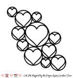 Open Hearts Circles-Free Cut File