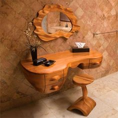 Are you tired of searching on net to find the best ideas for interior design? See Wooden Interior Furniture For Authentic House Look. Small Woodworking Projects, Wood Projects, Woodworking Plans, Woodworking Videos, Furniture Plans, Rustic Furniture, Unusual Furniture, System Furniture, Rustic Desk