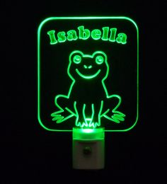Personalized #Frog LED Night Light by Unique LED Products #personalizedgift #LED #CLEVELAND