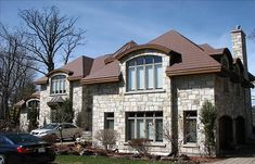The steel shingles are tougher and longer lasting because they are composed of high-strength steel roofing panels. Metal Roof Colors, Steel Roofing, Roof Panels, Wakefield, Bridge, Strength, Mansions, House Styles, Home Decor