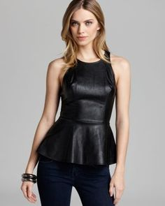 faux leather peplum top $38.71