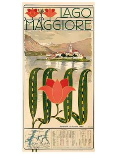 Lago Maggiore: Mappa - Calendario con orari dei battelli a vapore della Navigazione del Lago Maggiore - Calendario dal 15 giugno, 1903