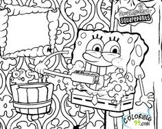 Collection of free Spongebob Chocolate Coloring Page from all over ...