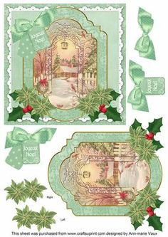 Winter Garden Joyeux Noel 6in Christmas Step by Step on Craftsuprint - Add To Basket!
