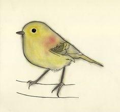 Love her work!   Bird Art print. 4 for 3 SALE Stefan 4 x 6 by matouenpeluche