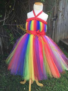 Rainbow Tutu dress Rainbow Dress Rainbow by SouthernDreamMakers