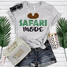 Safari Mode Shirt, Animal Kingdom Shirts, Disney Family Shirt, Disney World Shir Disney Tees, Disney Shirts For Family, Family Shirts, Funny Disney Shirts, Disney Apparel, Cute Disney Outfits, Disney World Outfits, Disney Clothes, Disney Fashion