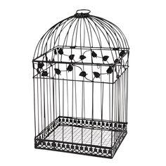 Black Birdcage Card Holder