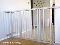 DIY Baby Gate. IDK about this one exactly, but I love the idea of making my own size.