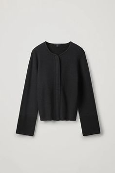 Shop jumpers and cardigans from the women's knitwear collection at COS; Coats For Women, Jackets For Women, Knit Jacket, Work Wear, Knitwear, Zip Ups, Long Sleeve, Sleeves, Cotton