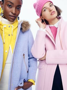 Women's Outerwear: Coats, Jackets, Vests & More | J. Crew Coats For Women, Clothes For Women, Pastel Outfit, Fashion 2017, Fashion Trends, Stylish Coat, J Crew Dress, Outerwear Women, Fall Outfits