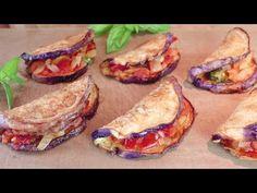 Νόστιμη μελιτζάνα σε ένα τηγάνι, κόλπο για ελαφρύ τηγάνισμα! # 337 - YouTube Eggplant Dishes, Eggplant Recipes, Low Carb Recipes, Vegetarian Recipes, Healthy Recipes, Tasty Videos, Food Videos, Vegetable Slice, Zucchini Squash