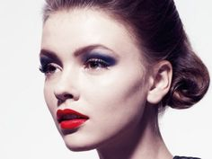 2. The #Bombshell Look - 7 Clever Eye #Makeup Tips to Go with Red Lipstick ... → Makeup [ more at http://makeup.allwomenstalk.com ]  #Girls #Lipstick #Black #Lips #Eyeliner