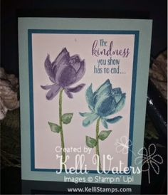 Kelli's Korner: Little things make a difference Lotus Blossom Sale-A-Bration Stampin' Up Spritzer more ideas at www.KelliStamps.com
