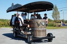 North Fork Wine Wagon offers pedal-powered vineyard tours... North Fork Wine Wagon, which features seating for up to 15, is fueled the leg power of its patrons and serves as a Wine Country transportation alternative.