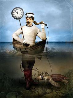 The speaking clock - Art collection by Catrin Welz-Stein Photoshop, Illustrations, Illustration Art, Digital Image, Digital Art, Creation Photo, Clock Art, Clocks, Image Originale