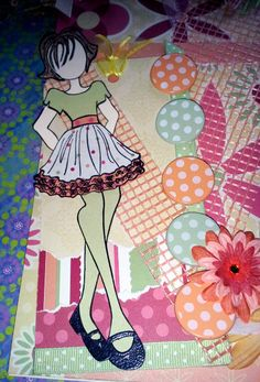 Prima Paper Doll Journal / Spring Has Sprung by JMRCreativeDesign