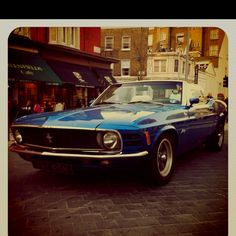 Mustang convertible... I like very few convertibles.