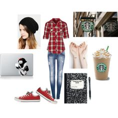 LOVE! Red Tomboy Style! / Polyvore