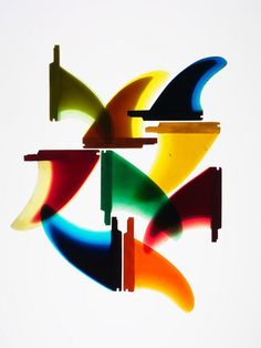 Fin Colorblocking.  The Fin Project by Timothy Hogan from Liquid Salt via Christine Best