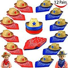 Childs Straw Cowboy Bandannas Favors. -- Check this awesome product by going to the link at the image. (This is an affiliate link) #PartySupplies