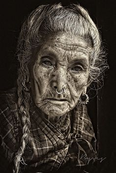 """ Tristesse "" by yves b on 500px,Woman,Manaslu,Népal"