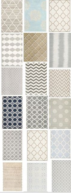 love these rugs....they are light but pretty and add a little fun and texture to a neutral palette - www.homeology.co.za