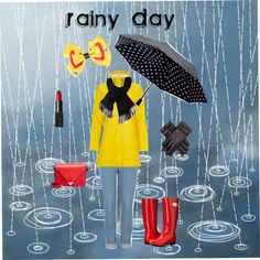 Rainy day by kwiggins2021 on Polyvore featuring polyvore, fashion, style, Nicole Miller, Alexander Wang, Saks Fifth Avenue Collection, Lacoste, Disney, NARS Cosmetics and women's clothing