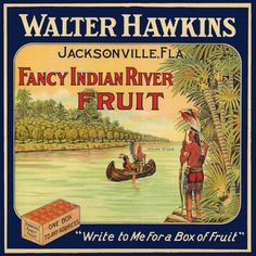 Indians in Canoe on River Jacksonville Florida Refrigerator Magnet. $4.50, via Etsy.