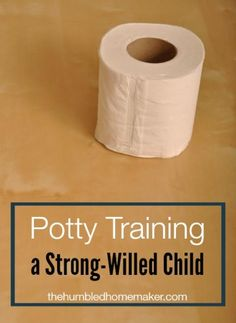 Potty Training a Strong-Willed Child - TheHumbledHomemaker.com