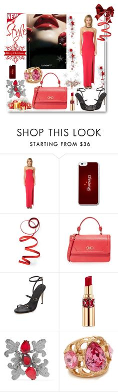 """""""Rock the Christmas Eve!!"""" by stylediva20 on Polyvore featuring M.A.C, Elizabeth and James, Frontgate, TIBI, Yves Saint Laurent and Oscar de la Renta"""