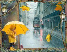 image anime - Page 13 Computer Wallpaper, Cool Wallpaper, Gifs, Rain Animation, Rain Gif, Gata Marie, Umbrella Art, Garden Deco, Cute Cartoon Wallpapers
