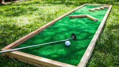 DIY Miniature Golf Course | Home & Family on Hallmark Channel | create movable obstacles to increase or decrease difficulty; use wood scraps to create angles or bridges, use sand castle buckets with holes for ball to pass through
