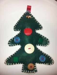 Albero di Natale bottoni 2
