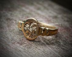 Roman signet ring.