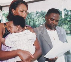 Dr. Samuel Muhumuza Mutoro - who died trying to save victims of the Ebola virus - in Liberia - pictured here with his wife and child. These brave doctors are now getting ill trying to save others.