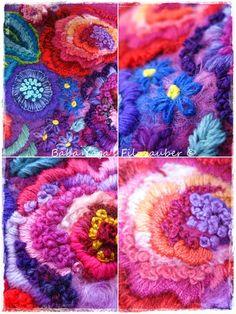 Baba Yaga lush flowers in wool