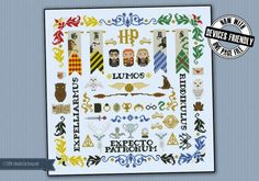 Harry Potter pillow sampler - Pillow Samplers - Cross Stitch Patterns - Products