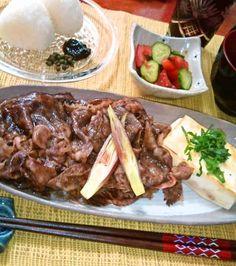 味噌漬け肉、豆腐