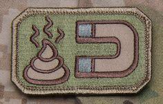 morale Military Patches | Shit Magnet Mil-Spec Monkey Morale Patch - MULTICAM
