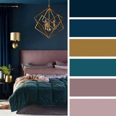 The Low Down on Bedroom Color Schemes Master Colour Palettes Revealed - zaradesignhomedec. Bedroom Ideas: 46 The Low Down on Bedroom Color Schemes Master C.Bedroom Ideas: 46 The Low Down on Bedroom Color Schemes Master C. Bedroom Color Schemes, Bedroom Paint Colors, Interior Colour Schemes, Teal Paint, Paint Colours, Paint Schemes, Trendy Bedroom, Modern Bedroom, Bedroom Romantic