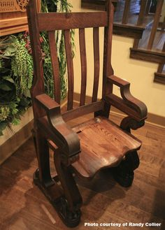 Piano Leg Chair--featured on Extreme Home Makeover, donated by Grand American Piano--made from actual piano parts Built In Furniture, Refurbished Furniture, Solid Wood Furniture, Handmade Furniture, Repurposed Furniture, Furniture Making, Painted Furniture, Diy Furniture, Furniture Refinishing