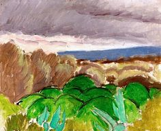 Cagnes, Landscape in Stormy Weather / Henri Matisse - 1917