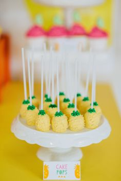 Pineapple cake pops: http://www.stylemepretty.com/collection/2193/
